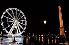 Night view of the Concorde Square, Paris just after a rain shower! (Ankush_Sethi) Tags: paris concorde