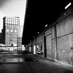 Fenixloodsen (Channed) Tags: bw square rotterdam industrial hangar shed nederland thenetherlands sheds loods katendrecht chantalnederstigt fenixloodsen fenixloods