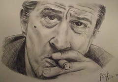 Actor Robert De Niro closeup drawing (fitzjim) Tags: italy man male celebrity closeup hair intense italian comedy artist cheek drawing good taxi father 911 evil rollerderby cigar casino smoking mob crime american charcoal hero stare actor taxidriver mole drama staring themission tough fockers fatherinlaw mafia goodfellas gentleman alcapone hosted greenwichvillage protect bombers scarface awakenings deerhunter dicktracy alpacino robertdeniro vietnamwar capefear mattdamon benstiller ragingbull carlitosway onceuponatimeinamerica midnightrun joepesci abronxtale jakelamotta bestactor theuntouchables thegodfatherpartii thedeerhunter prostatecancer jimfitzpatrick donniebrasco righteouskill thekingofcomedy carlitobrigante benjaminleftyruggiero drivermeet alphonsebigboycaprice