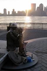 Jersey City: Makeshift Memorial (wallyg) Tags: sculpture statue newjersey memorial jerseycity 911 nj jersey jc sept11 gothamist september11 exchangeplace september11th 911memorial hudsoncounty 91101 sept11th september11th2001 jsewardjohnson makeshiftmemorial sewardjohnson johnsewardjohnsonii johnsewardjohnson