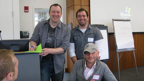 Morriss Partee, Alfonso Santaniello, and Tom Fox