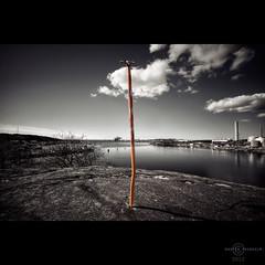T red (martin fredholm) Tags: autumn bw monochrome göteborg sweden coastal april hdr 2012 quadtone selectivecolour asquaresuperstarstemple