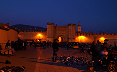 Outside the city walls of Fes (Miging) Tags: night market morocco citywalls fes fesmedina