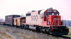 Single Helper (pennsy5929) Tags: sooline railroads sd402 milwaukeeroad