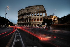 Rome HDR... happy sliding (Rex Montalban) Tags: longexposure italy rome night europe colleseum hdr lightstreaks hss rexmontalbanphotography sliderssunday