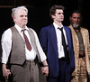 Philip Seymour Hoffman, Andrew Garfield and John Glover Broadway opening night of 'Death Of A Salesman' at the Ethel Barrymore Theatre - Arrivals. New York City, USA