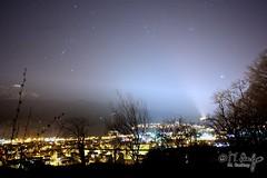 Night Over Kriens (huskyte77) Tags: city sky panorama castle night stars landscape lights schweiz darkness time 4 pilatus horw kriens canonef20mmf28usm kantonluzern imagetype photospecs flickrexportdemo kantonsstrasse