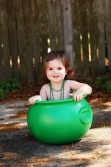 Happy St. Patrick's Day! (Kristi1228) Tags: irish green girl beads toddler child stpatricksday potofgold