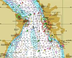 Chart over Helsingborg