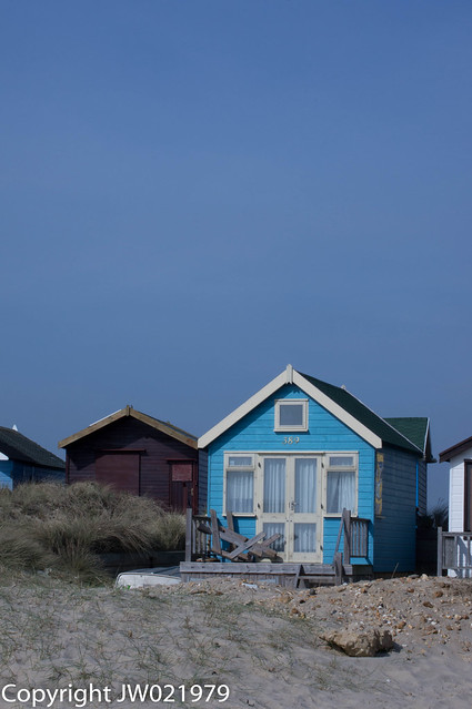 Beach hut at Hengistbury Head