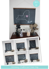 Chalkboard State Map Giveaway (Chic & Cheap Nursery) Tags: baby handmade nursery giveaway etsy decor interiordesign chalkbaord