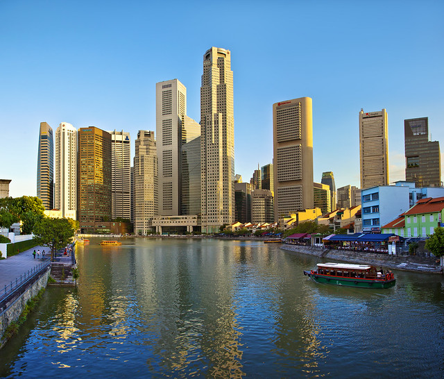 Singapore River Taxi : Vectoramic Day View :