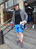 Irish grappler Sheamus WWE wrestlers outside of their hotel Dublin, Ireland