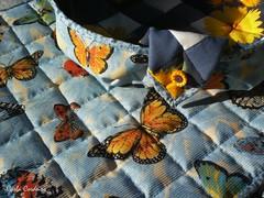 Girassol e Borboletas (Carla Cordeiro) Tags: placemat boto patchwork cozinha girassol cestinha jogoamericano cantomitrado