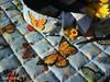 Girassol e Borboletas (Carla Cordeiro) Tags: placemat botão patchwork cozinha girassol cestinha jogoamericano cantomitrado