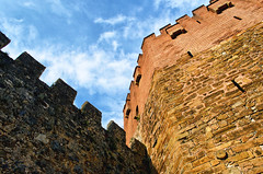 The Red Tower - Alanya (ErdenizS) Tags: red sky tower castle wall clouds ancient nikon alanya d5100