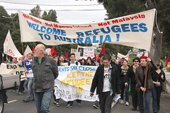 Banner: Welcome refugees to Australia - refuge...