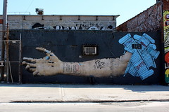 Brooklyn - Bushwick: Five Points - OverUnder x No Touching Ground (wallyg) Tags: nyc newyorkcity streetart ny newyork brooklyn graffiti gothamist fivepoints bushwick overunder 5points helpinghand kingscounty erikburke notouchingground bushwickfivepoints bushwick5points bushwickcollective