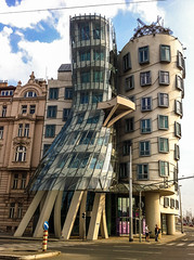 """The Dancing House"" aka ""Fred and Ginger"" (ice-cold photography) Tags: city house building architecture design prag planning czechrepublic frankgehry fredandginger outsidethebox thedancinghouse avantgrade hlavnmstopraha"