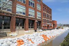 Waterfront Indeed (JayLev) Tags: water flood riverfront peoria sandbag illinoisriver