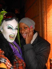 SAL-E and SAYA at Smart Bar on 3-03-2013 (SAL-E) Tags: chicago club hair fur drag costume scary artist glow sale painted clown makeup queen host freak dragqueen clowns creature dreads synthetic freaks clubkid smartbar clubcreature freakdrag housemusicdanceparty 20130304queen