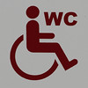WC (Leo Reynolds) Tags: xleol30x signinformation wheelchair canon eos 7d 0004sec f80 iso250 200mm groupperil hpexif sign peril xx2013xx