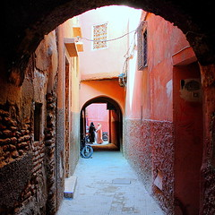 a typical red alley (mujepa) Tags: red alley marrakech medina ruelle marrakesch mygearandme mygearandmepremium mygearandmebronze infinitexposure