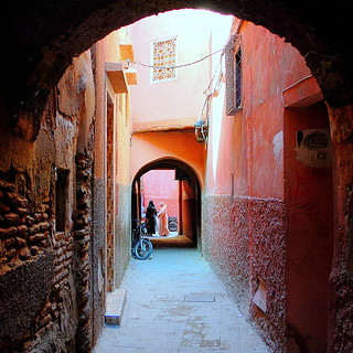 a typical red alley
