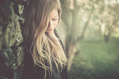search for the light... (unplugged - photography) Tags: light portrait woman sun tree girl beautiful canon germany hair deutschland licht frau dslr regensburg sonne baum haare 6d