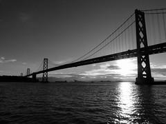 (patrickthehuman) Tags: sf sanfrancisco bridge blackandwhite bw monochrome mono bay baybridge sanfran frisco x20 fujix20 fujifilmx20