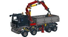 LEGO Technic 42043 Mercedes Benz Arocs (RS 1990) Tags: black color colour truck lego cab technic mercedesbenz ldd 42043 digitaldesigner arocs