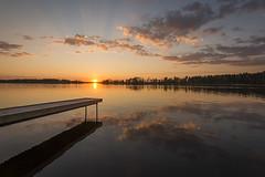 Sunset over Arnn (Madeleine Forsgren) Tags: sunset clouds nikon jetty vnern d800 solnedgng brygga vrmland moln arnn madeleineforgren