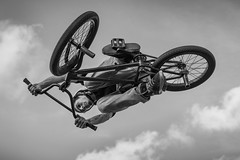 B M X (Simn Juan Cruz (Owen)) Tags: street boy sky bw bike sport fly jump bmx action trick xtreme