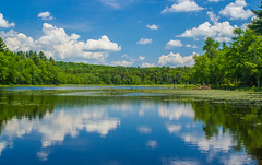 Reflections On Stolowitz Lake (Catskills Photography) Tags: sky lake water clouds reflections landscape hss canon35mmf2lens