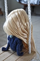 Chill (the Northlings) Tags: blue fashion hair doll long factory knit blond blythe mermaid surfergirl beachwaves