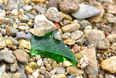 Look sharp (D. Brigham) Tags: green beach glass outdoors rocks seaglass eastboston beachcombing