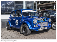 Classic Mini H20 DFC (Paul Simpson Photography) Tags: cars transport traction mini lincolnshire classics british iconic tyres smallcar bluemini classiccarshow photosof imageof photoof miniturbo imagesof classicbritish sonya77 paulsimpsonphotography april2016