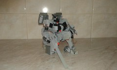 Kneeling pose (frameworks6) Tags: robot military mecha mech