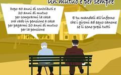 Pensioni e mutui post-mortem. Quando per andare in pensione prima di schiattare devi ven (SatiraItalia) Tags: satira banche pensioni mutui