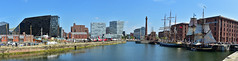 This Time With Ships (18mm & Other Stuff) Tags: uk england panorama water liverpool dock nikon bluesky gb tallship tallships albertdock sailingship merseyside d7200