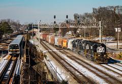 NS P76 at Tillman (Kyle Yunker) Tags: bridge atlanta train point high ns norfolk east southern hood marta lakewood signal tillman emd sd402