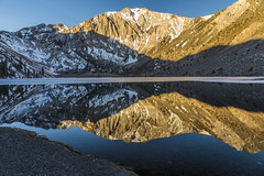 Reflection on Convict Lake (Fred Moore 1947) Tags: california lake snow mountains reflection landscape us unitedstates mammothlakes easternsierra convictlake