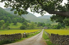 Ullswater farm and backdrop (Vee- back at last :-)) Tags: cumbria thelakes kirkstonepass nikond300 landscapes roads winding farm hills mountains uk june 2016 ullswater