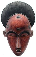10Y_0898 (Kachile) Tags: art mask african tribal ctedivoire primitive ivorycoast gouro baoul nativebaoulmasksaremainlyanthropomorphicmeaningtheydepicthumanfacestypicallytheyarenarrowandfemininelookingincomparisontomasksofotherethnicitiesoftenfeaturenohairatallbaoulfacemasksaremostlyadornedwithvarioustrad
