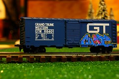 CUATE (KNOWLEDGE IS KING_) Tags: blue color scale car by one panel flat rail zee boo crew boxcar lionel ho gt 2012 fill wh yah in rtd cuate grandtrunkwestern minirollingstock