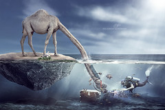 search in the sea (suliman almawash) Tags: art digital photoshop kuwait suliman       almawash