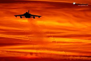 Tornado GR4 departing RAF Marham