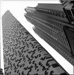 (David Davidoff) Tags: urban bw 120 6x6 mediumformat hongkong blackwhite central structure kodaktmax400 sheungwan epsonv700 50mmf40 hasselblad500cmblackdistagon60mmf35
