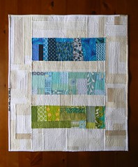 Furrows (teaginny) Tags: modern quilt improv scraps wallhanging freepieced