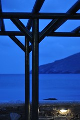 a little blue, a little of a dream...in Andros (dimitra_milaiou) Tags: life travel blue light sea black color colour love lines night greek design nikon europe afternoon village view bokeh d dream hellas visit line greece shape pure 90 andros 2012 dimitra ormos d90  linescurves  korthi  korthion  milaiou